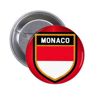 Monaco Flag 2 Inch Round Button