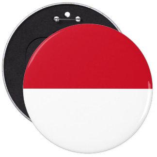 Monaco Flag 6 Inch Round Button