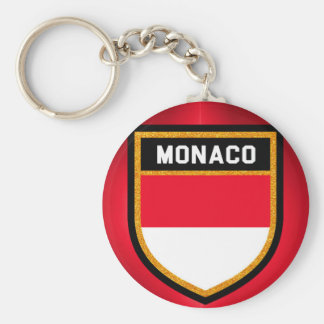 Monaco Flag Basic Round Button Keychain