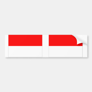 Monaco flag bumper sticker