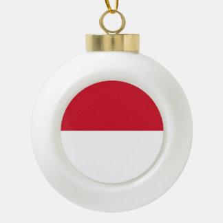 Monaco Flag Ceramic Ball Christmas Ornament