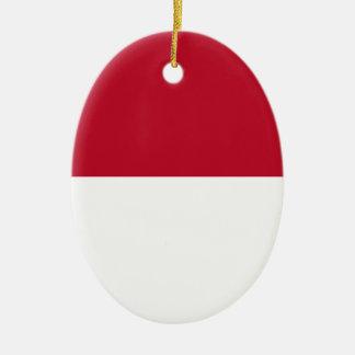 Monaco_flag Ceramic Ornament
