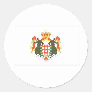 Monaco Flag Classic Round Sticker