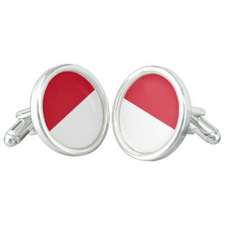 Monaco Flag Cuff Links