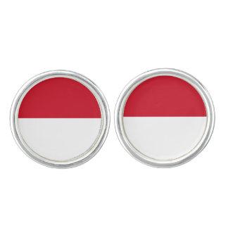 Monaco Flag Cufflinks