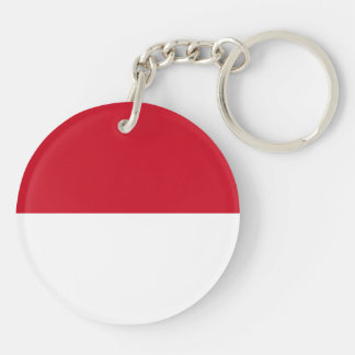 Monaco Flag Double-Sided Round Acrylic Keychain