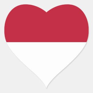 Monaco_flag Heart Sticker