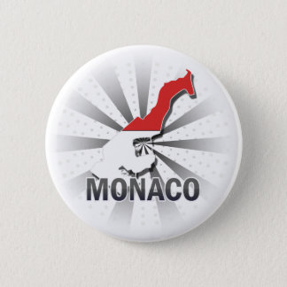 Monaco Flag Map 2.0 2 Inch Round Button