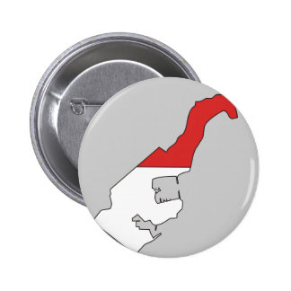 Monaco flag map 2 inch round button