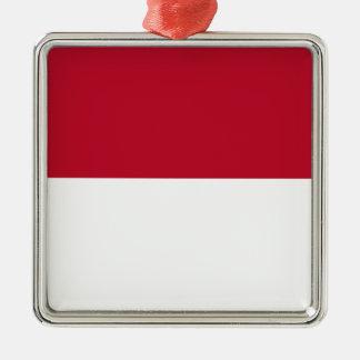 Monaco_flag Metal Ornament