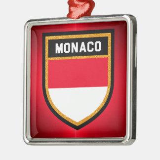 Monaco Flag Metal Ornament