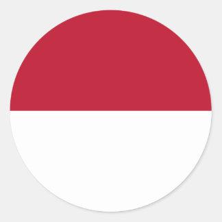 Monaco_flag Round Sticker
