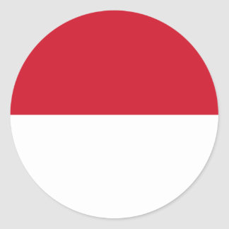 Monaco Flag Round Sticker