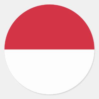 Monaco Flag Round Stickers (pack)