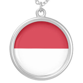Monaco Flag Silver Plated Necklace
