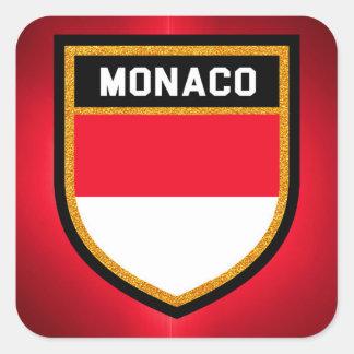 Monaco Flag Square Sticker