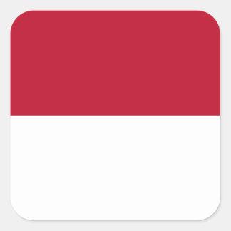Monaco_flag Square Sticker