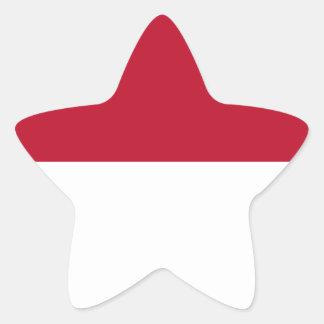 Monaco_flag Star Sticker