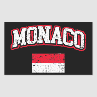 Monaco Flag vintage
