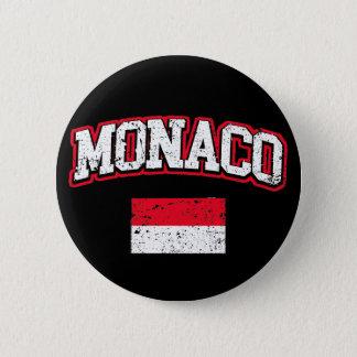 Monaco Flag vintage 2 Inch Round Button