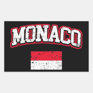 Monaco Flag vintage Sticker
