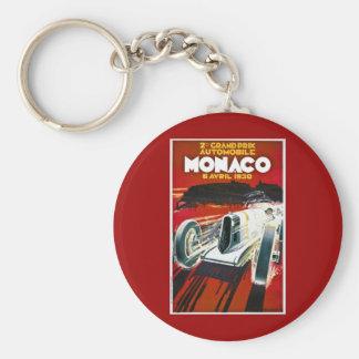 Monaco Grand Prix 1930 Basic Round Button Keychain