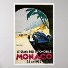 Monaco Grand Prix 1933 Vintage Travel Poster