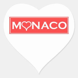 Monaco Heart Sticker