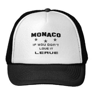 Monaco If you don't love it, Leave Trucker Hat