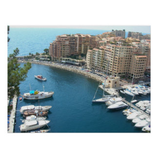 Monaco Marina and Condos Poster