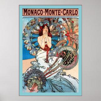Monaco ~ Monte-Carlo ~ Alphonse Mucha Poster