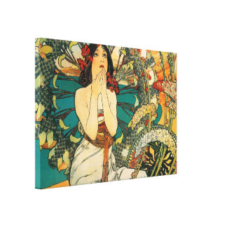 Monaco Monte Carlo by Alphonse Mucha Gallery Wrapped Canvas