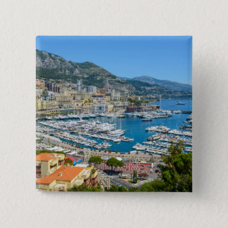 Monaco Monte Carlo Photograph 2 Inch Square Button