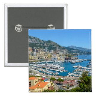 Monaco Monte Carlo Photograph 2 Inch Square Button