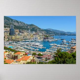 Monaco Monte Carlo Photograph Poster