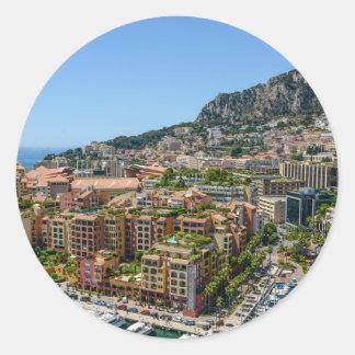Monaco Monte Carlo Photograph Round Sticker