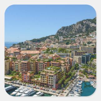 Monaco Monte Carlo Photograph Square Sticker