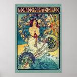 Monaco Monte-Carlo (Teal) Poster