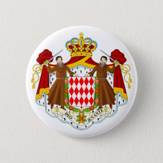 Monaco Official Coat Of Arms Heraldry Symbol 2 Inch Round Button