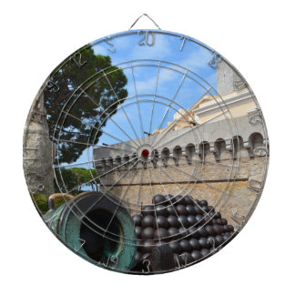 Monaco Palace - cannonballs and cannons Dartboard