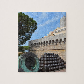Monaco Palace - cannonballs and cannons Jigsaw Puzzle