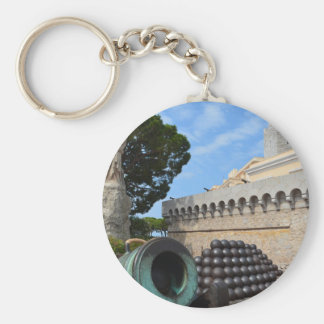 Monaco Palace - cannonballs and cannons Keychain