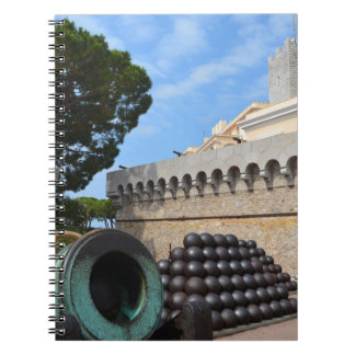 Monaco Palace - cannonballs and cannons Notebook