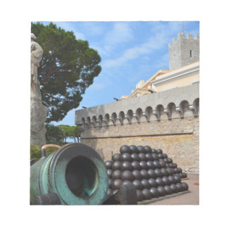 Monaco Palace - cannonballs and cannons Notepad