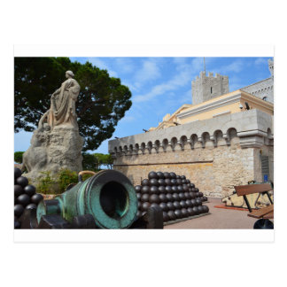 Monaco Palace - cannonballs and cannons Postcard