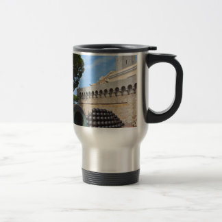 Monaco Palace - cannonballs and cannons Travel Mug