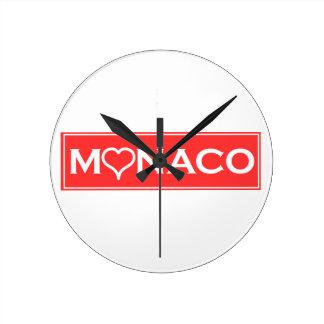 Monaco Round Clock