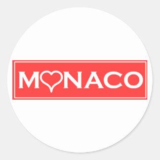 Monaco Round Sticker