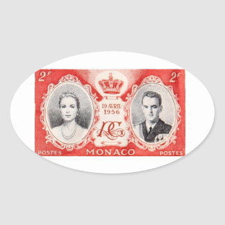 Monaco Royalty Postage Stamp Sticker