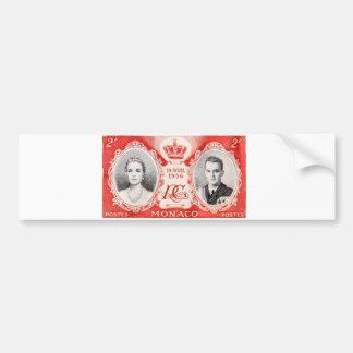 Monaco Royalty Postage Stamp Sticker Bumper Sticker